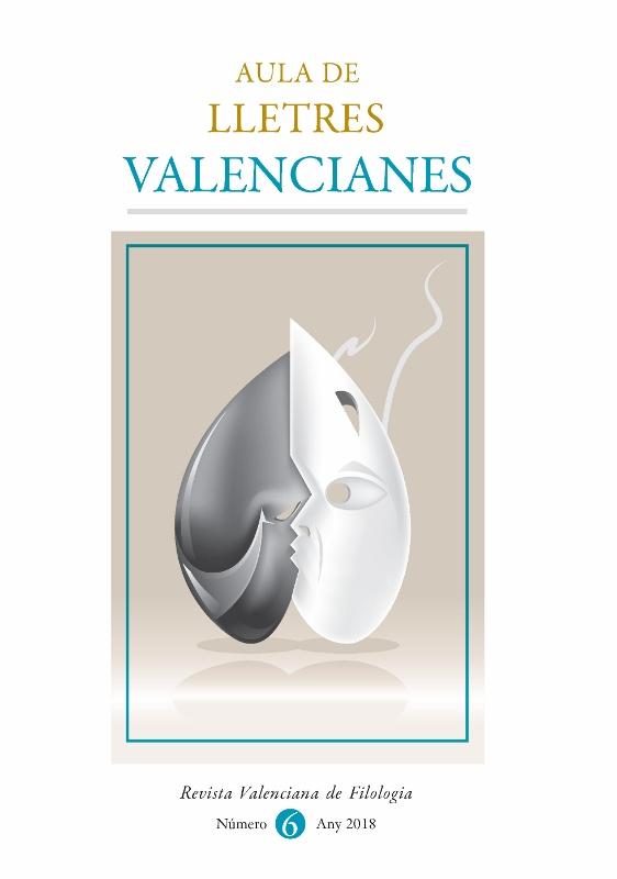 Portada del número 6 d'Aula de Lletres Valencianes - Revista Valenciana de Filologia